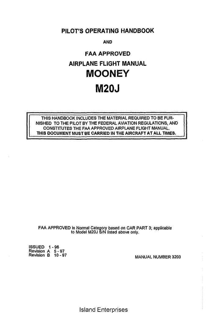 Mooney m20f manual array mooney m20j pilot u0027s operating handbook 1996 1997 manual 3203 rh eaircraftmanuals com fandeluxe Images