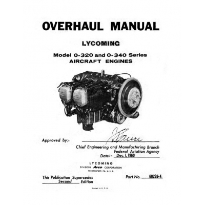 Lycoming Overhaul Manual 60298-4 O-320 & O-340