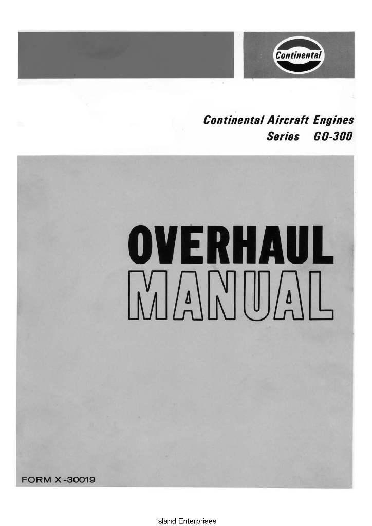 continental o-300 overhaul manual l-1363