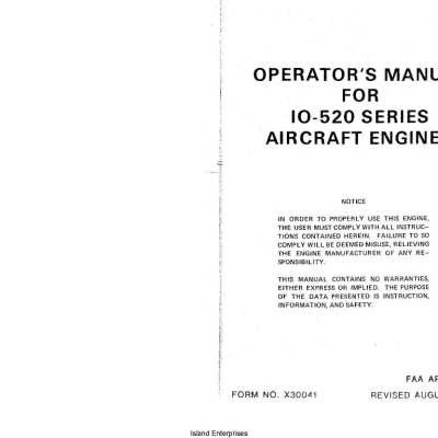Io520 parts manual