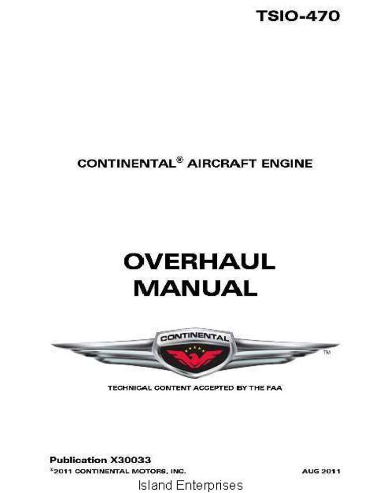 Lycoming io 320 overhaul Manual