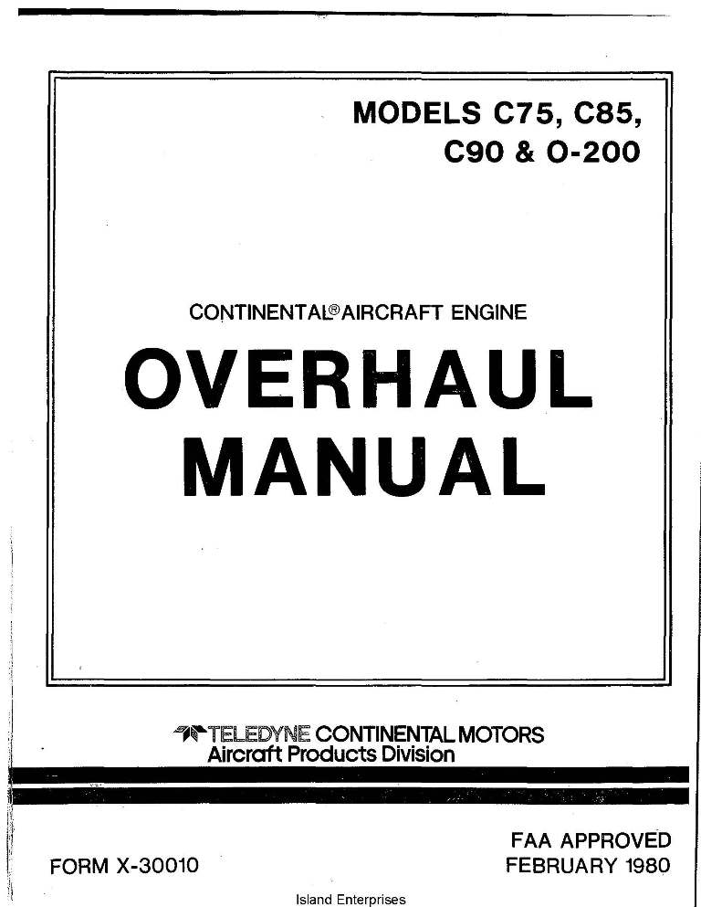 Continental 0200 Overhaul manual