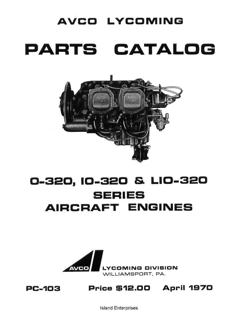 Lycoming O-320, IO-320 & LIO-320 1970 Parts Catalog