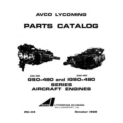 Lycoming Parts Catalog PC-114 GSO-480 & IGSO-480 Series