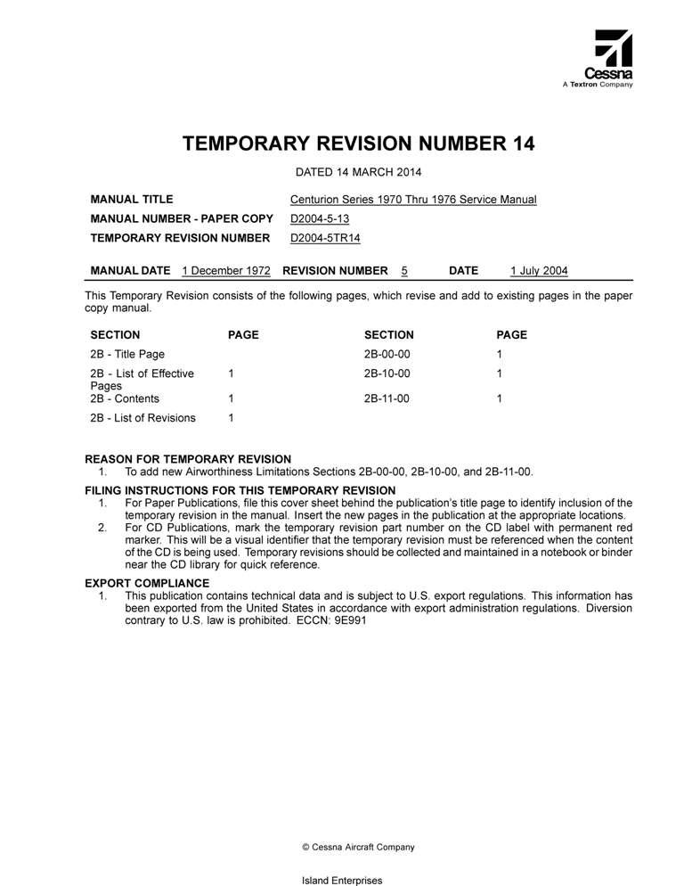 Cessna 210 aircraft Information manual