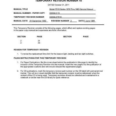 Cessna 425 maintenance manual 1825