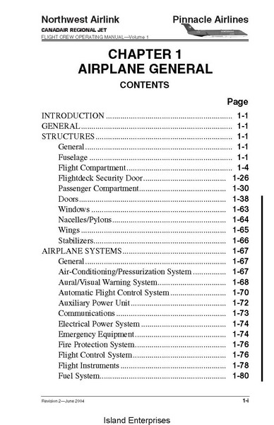 fcom flight crew operating manual