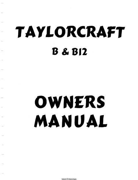 Taylorcraft B and B12 Owners and Instruction Manual
