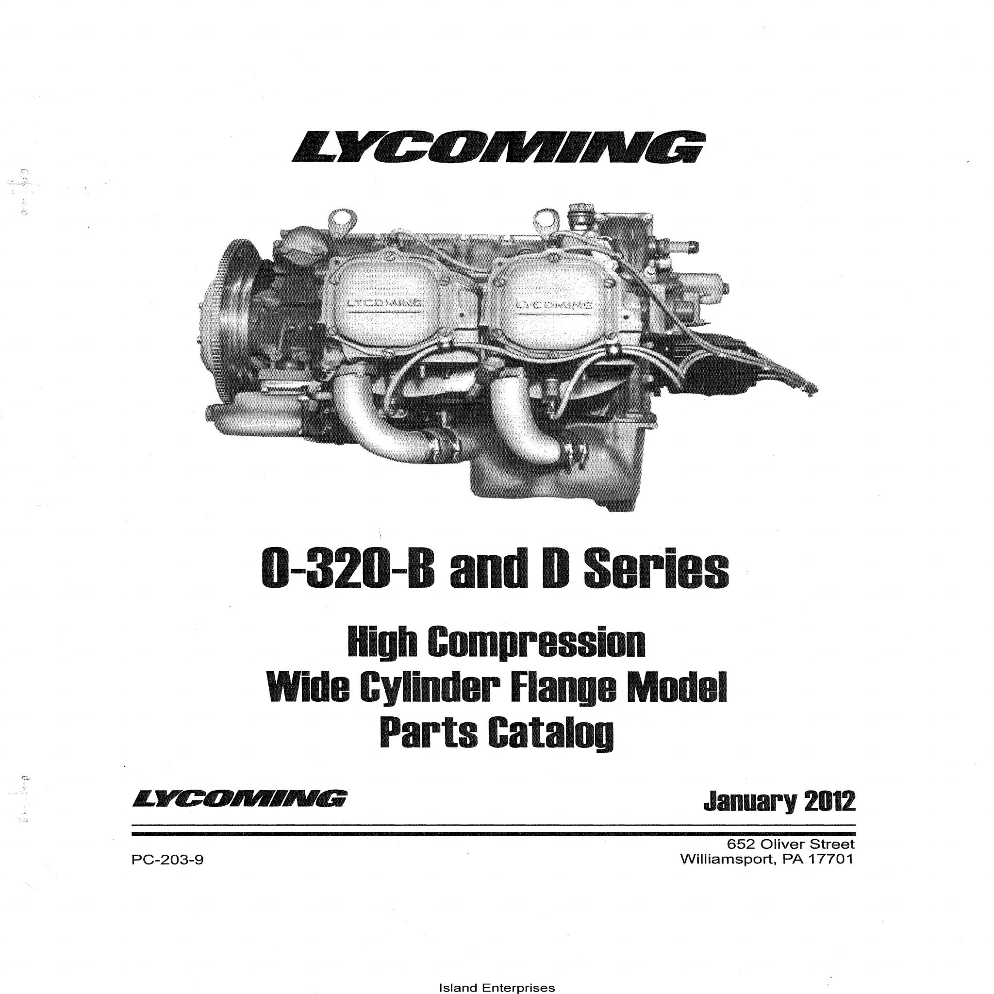 Lycoming 0 320 B And D Series High Compression Wide