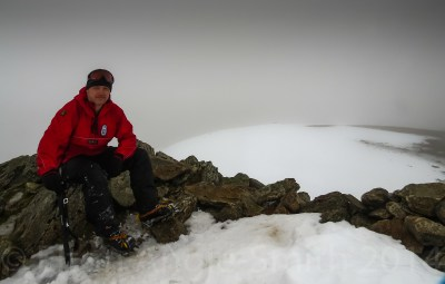 Having A Breather For Two Mins On Y Garn's Summit