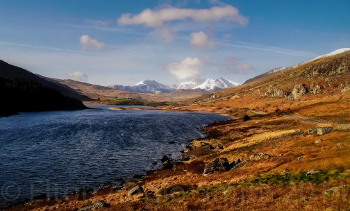 The stunning view from Capel Curig looking west to the Snowdon Massif