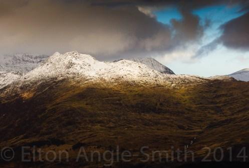 Y Lliwedd - 898 metres, with Crib Goch behind