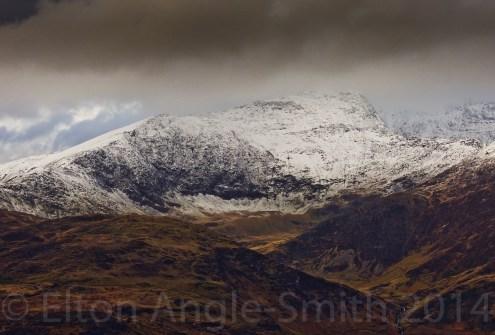 Yr Wyddfa (Snowdon) - 1085 metres, and the south ridge above Cwm Llan