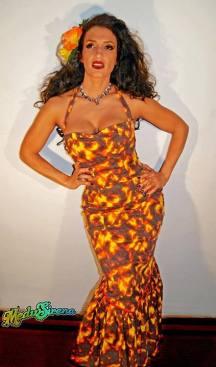 Lava dress model: Marina