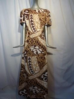 Tapa print waterfall dress