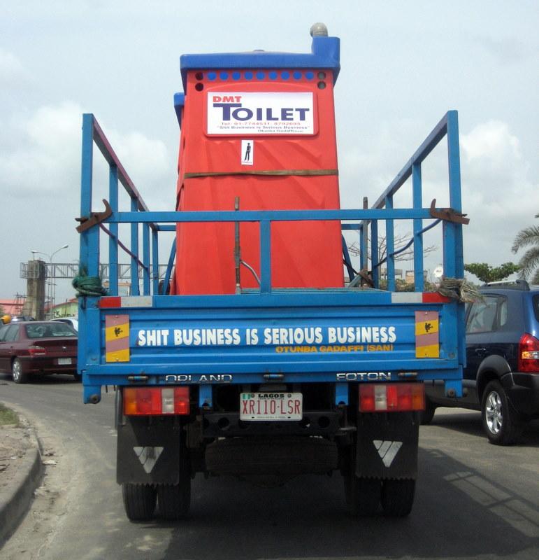 Stuck in traffic in Lagos.