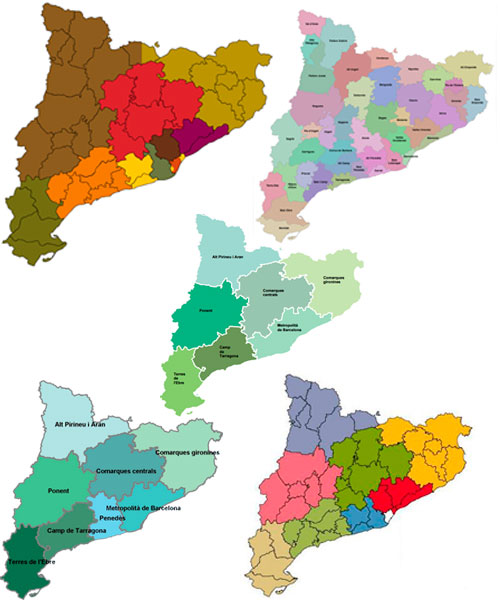 Diversos mapes de Catalunya