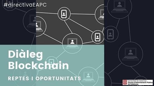Cartell de la Jornada Diàleg Blockchain: reptes i oportunitats