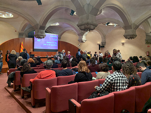Sessió Dades en lila al Palau de la Generalitat