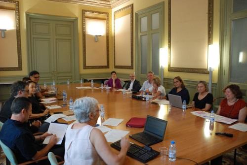 Reunió del Comitè d'Ètica a la Sala del Consell de l'EAPC