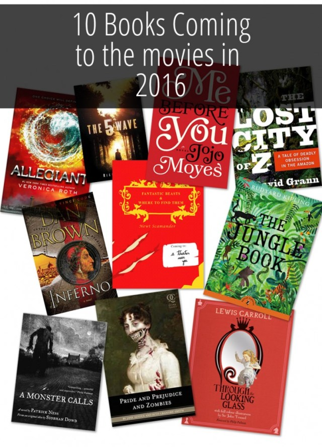 10 Books Coming To Movies In 2016