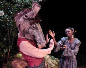 Scene from Midsummer's Night Dream by the Kentucky Shakespeare Company