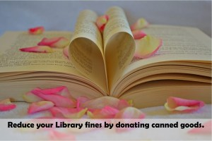 Donate canned food to the Library