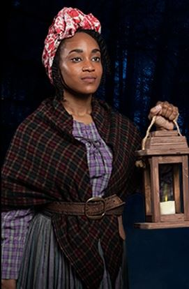 harriet Tubman with a lantern