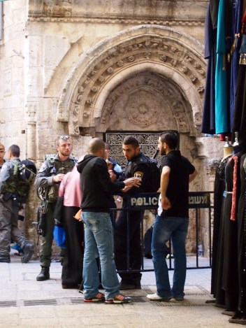 Friday is also the Muslim day of worship. On this Friday, Good Friday as well as during the Jewish holiday of Passover, Israeli authorities denied access to Al Aqsa mosque for worshippers under the age of 50. Photo EAPPI/J. Kaprio.