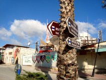 D.Peschel - Israeli tourist signs on Shuhada Street - Hebron - 281214
