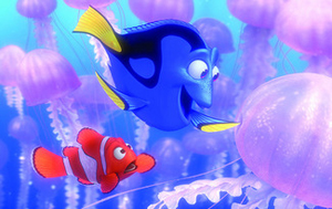 Dory and Marlin from FINDING NEMO