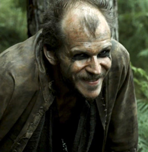 Floki, looking characteristically wack-a-ding-hoy