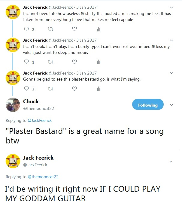 """Twitter Bitching"" would be a pretty good song title, too."