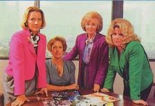 The PMRC, circa 1985. That's Tipper Gore on the right. We forgive you, Tipper (sorta).