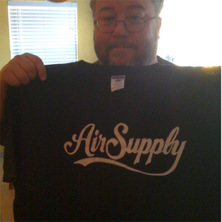 The author, with t-shirt, 2010