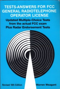 Test Answers for FCC General Radiotelephone Operator License -Warren Weagant Revised 18th Edition