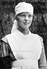"While visiting Muriel at St. Margaret's College in Toronto in 1917, Amelia encountered three Canadian soldiers who had lost a leg, and decided, on the spot, to join the war effort. She enrolled in the Voluntary Aid Detachment and was assigned to the Spadina Military Hospital. ""Sister Amelia soon became a favorite among the wounded and discouraged men,"" Muriel wrote."