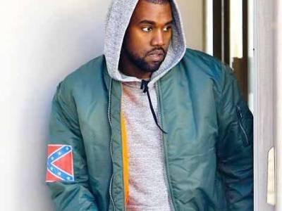 Kanye with flag