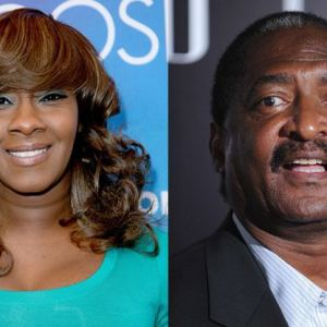 Le'Andria Johnson and Matthew knowles