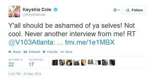 keyisha cole rant