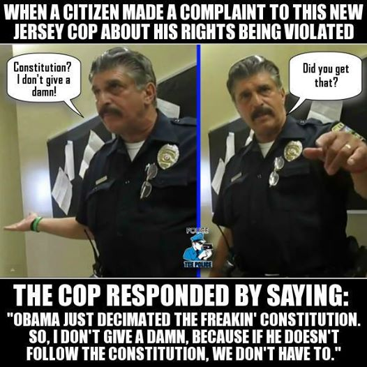 NJ Police Explaines why cops don't follow the constitution