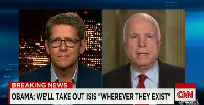 John McCain And Jay Carney Have A Heated 'Showdown' On ISIS, Who Won???