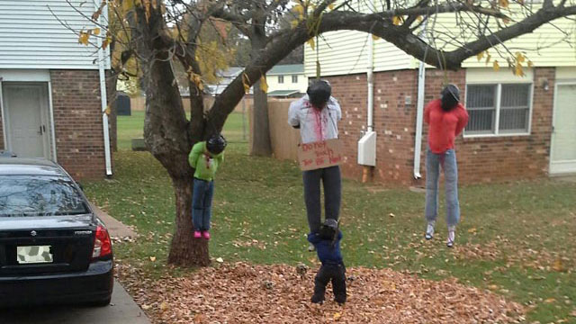 Racist Halloween Display Showing A Lynching Removed From Ft. Campbell Home