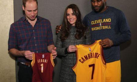 LeBron Violates Royal Protocol, Puts Arm Around Kate Middleton During Photo, He's King James !!!!