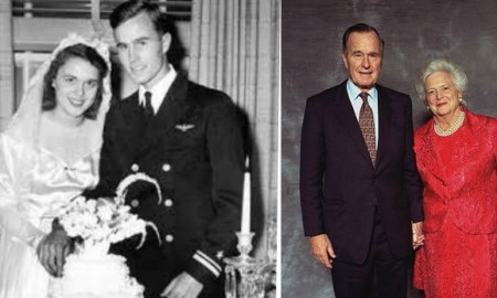 George and Barbara Bush celebrate 70th wedding anniversary