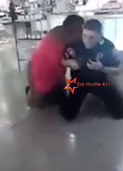 Partially Naked African-American Woman Gives Cop A Beat-down In The Mall While Onlookers Videotape; No One Helped Him [Video]