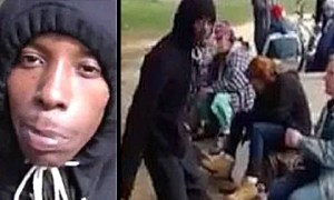 Disturbing Video Shows African-American Boy Knocking Out Homeless White Woman [ Video]