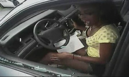 African-American Woman Having A Miscarriage Snatched Out Of Car Windows Smashed For A Minor Traffic Ticket [ Video]