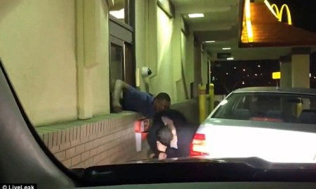 Mc Donald's Employee Beat The Breaks Off Irate Customer Who Tried To Pull Him Out The Drive-Thru Window [Video]