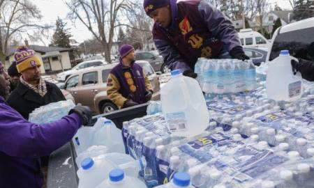 The Omega Psi Phi Fraternity Inc. Turned Up & Turned Out In Flint Michigan Helping Residents With Clean Drinking Water